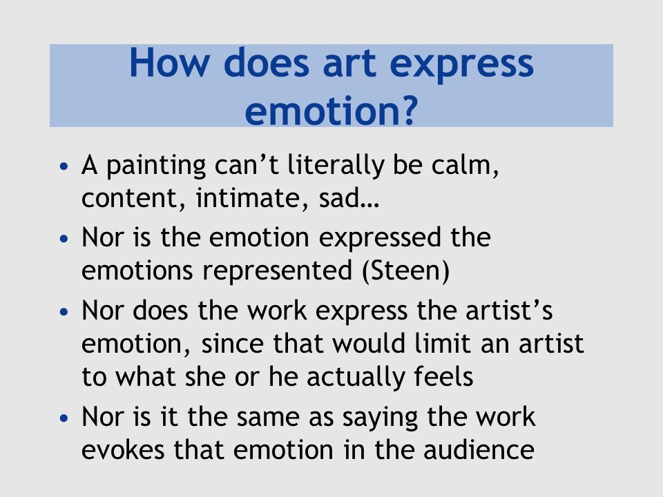 How does art express emotion.
