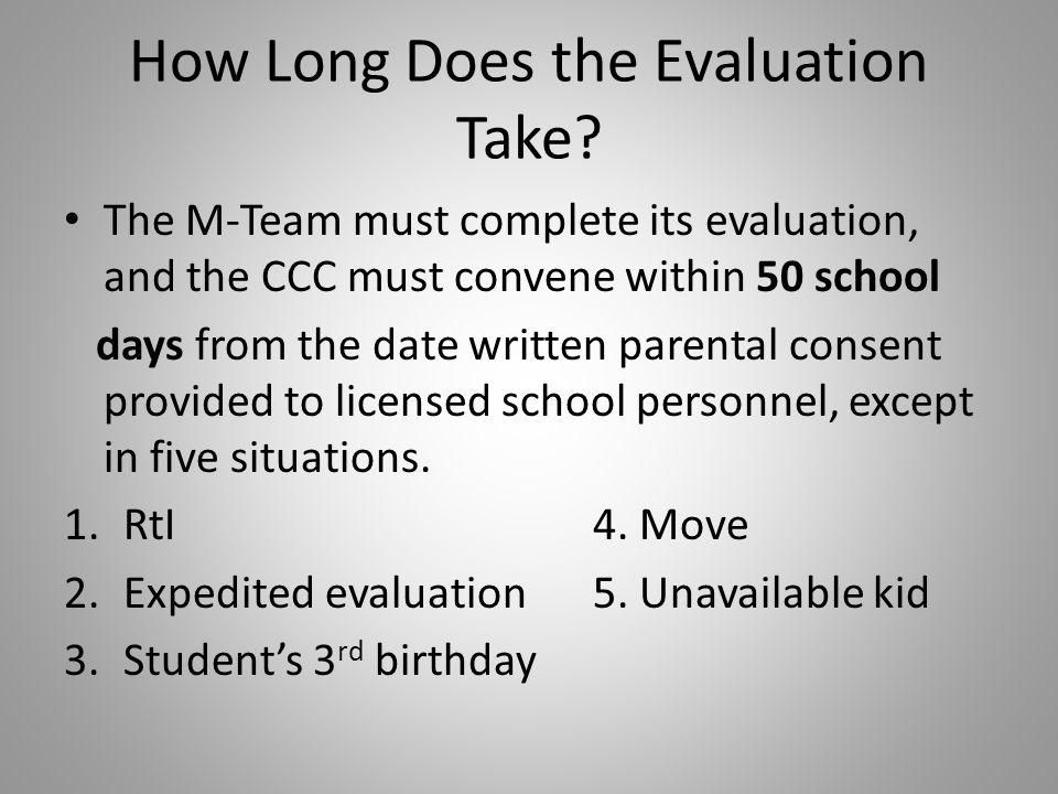 How Long Does the Evaluation Take.