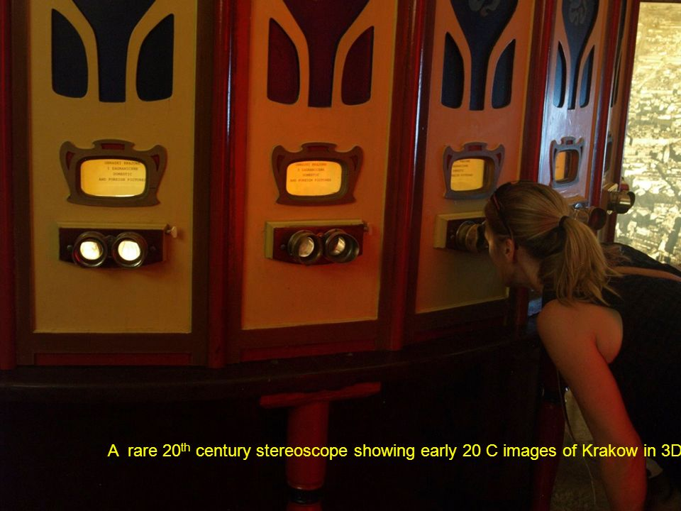 A rare 20 th century stereoscope showing early 20 C images of Krakow in 3D