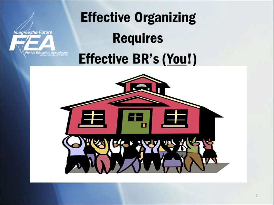 Effective Organizing Requires Effective BRs (You!) 7