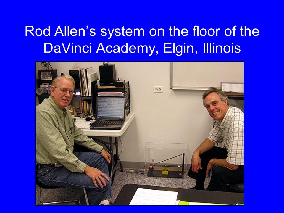 Dane Alexander at Mattawan, Michigan, with AS1 on floor below monitor