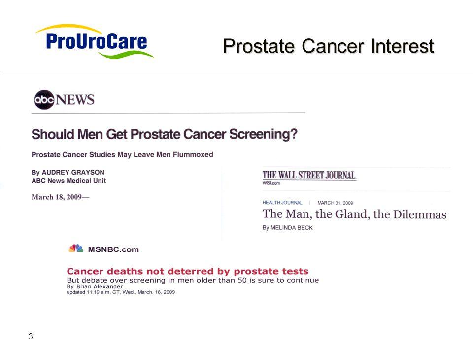3 Prostate Cancer Interest Prostate Cancer Interest