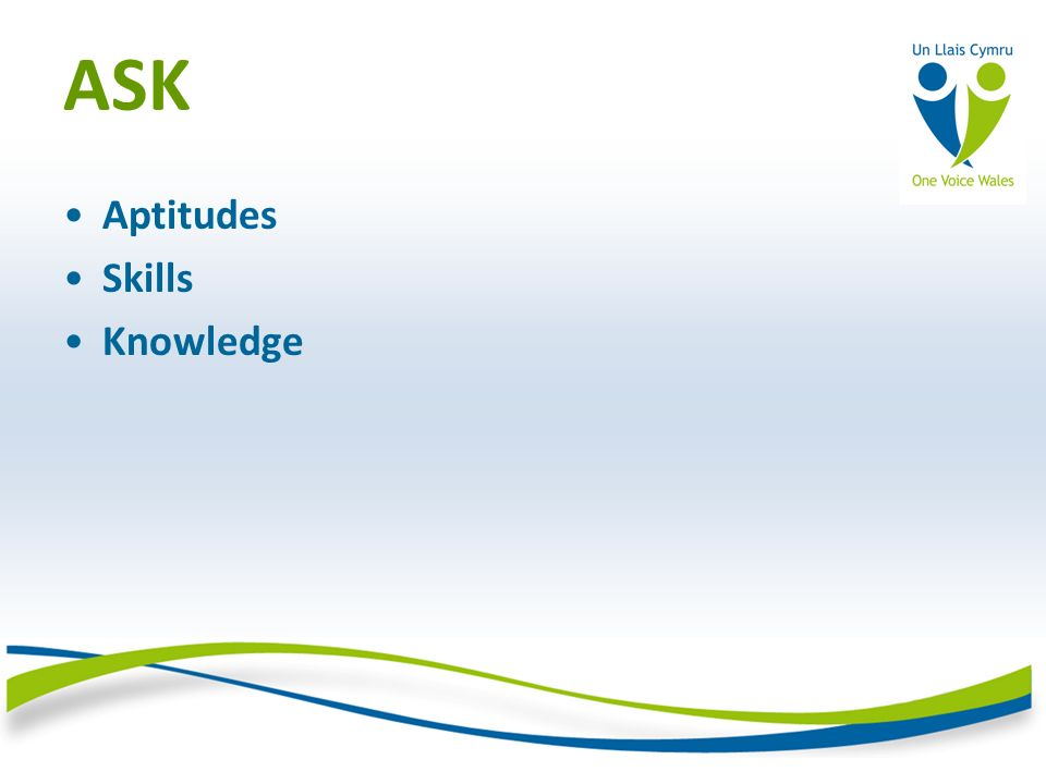 ASK Aptitudes Skills Knowledge