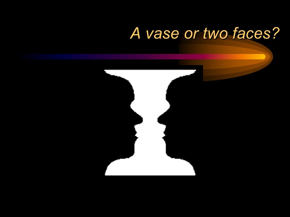 A vase or two faces?