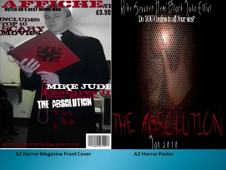 A2 Horror Magazine Front Cover A2 Horror Poster