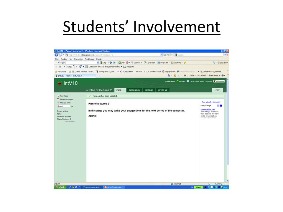 Students Involvement