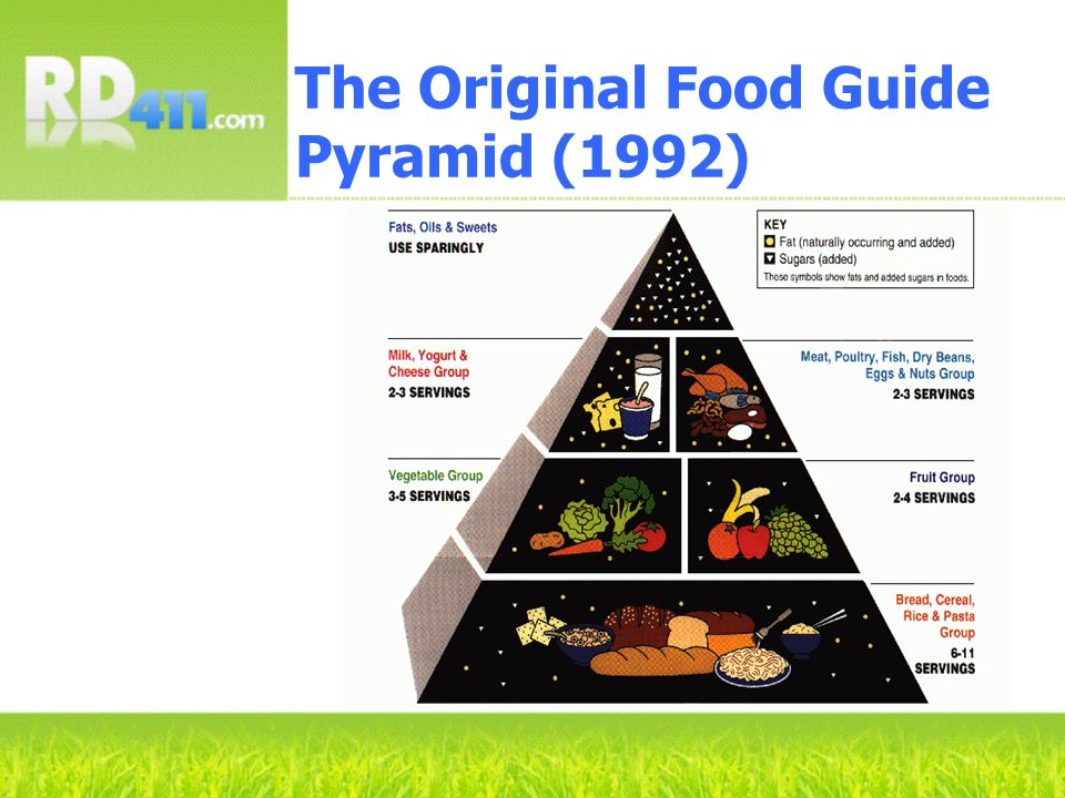 The Original Food Guide Pyramid (1992) Young You Young g