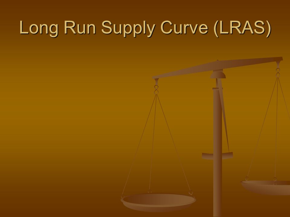 Long Run Supply Curve (LRAS)