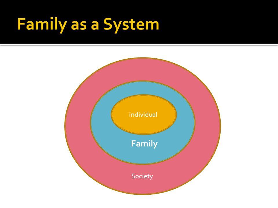 Society Family individual