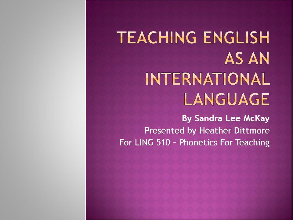 ESL/EFL Teachers (pre-service and in-service) ESL/EFL Teacher Trainers