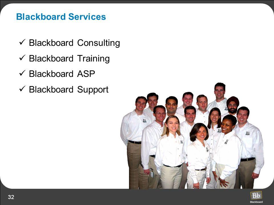 32 Blackboard Services Blackboard Consulting Blackboard Training Blackboard ASP Blackboard Support