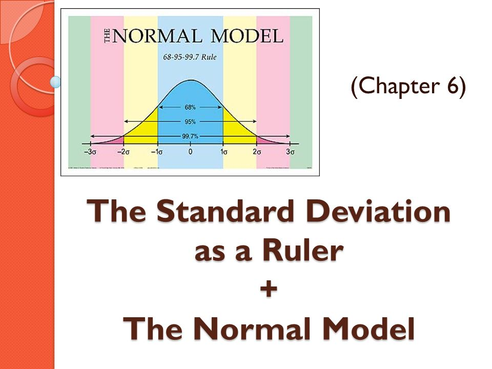 The Standard Deviation as a Ruler + The Normal Model (Chapter 6)