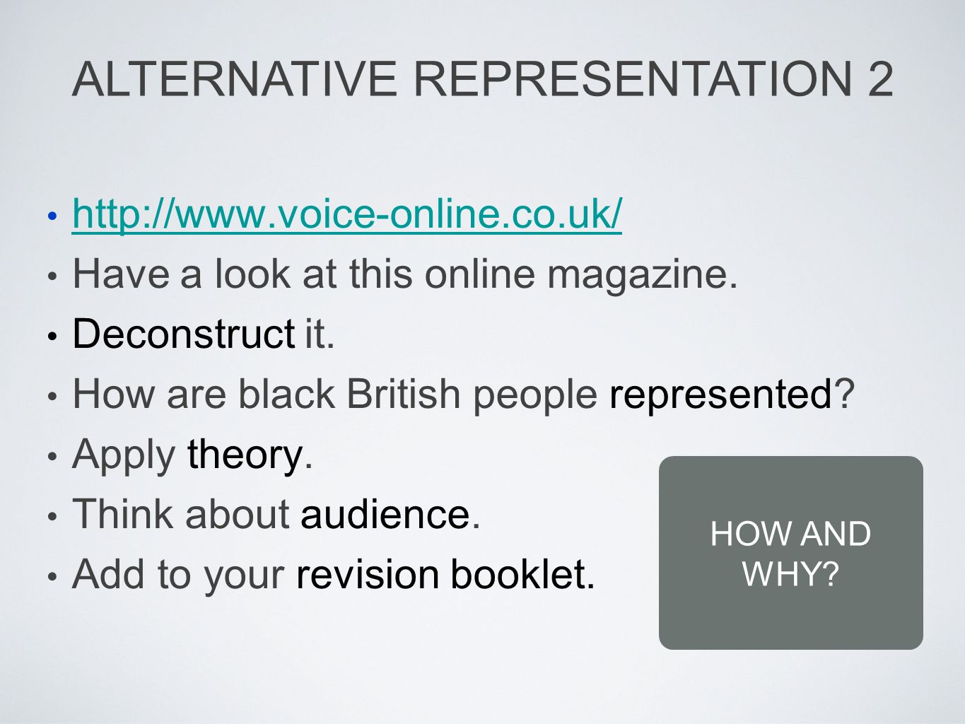 http://www.voice-online.co.uk/ Have a look at this online magazine.