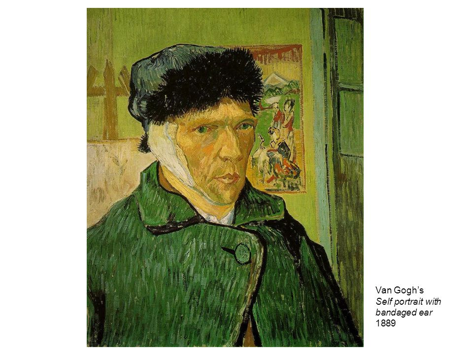 Van Goghs Self portrait with bandaged ear 1889
