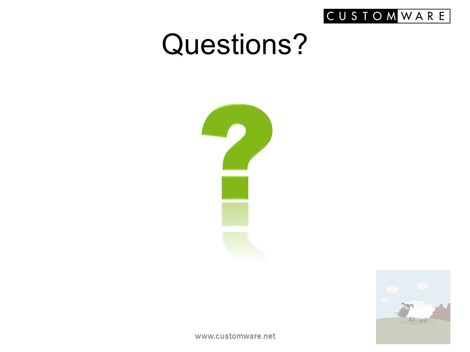 Questions? www.customware.net