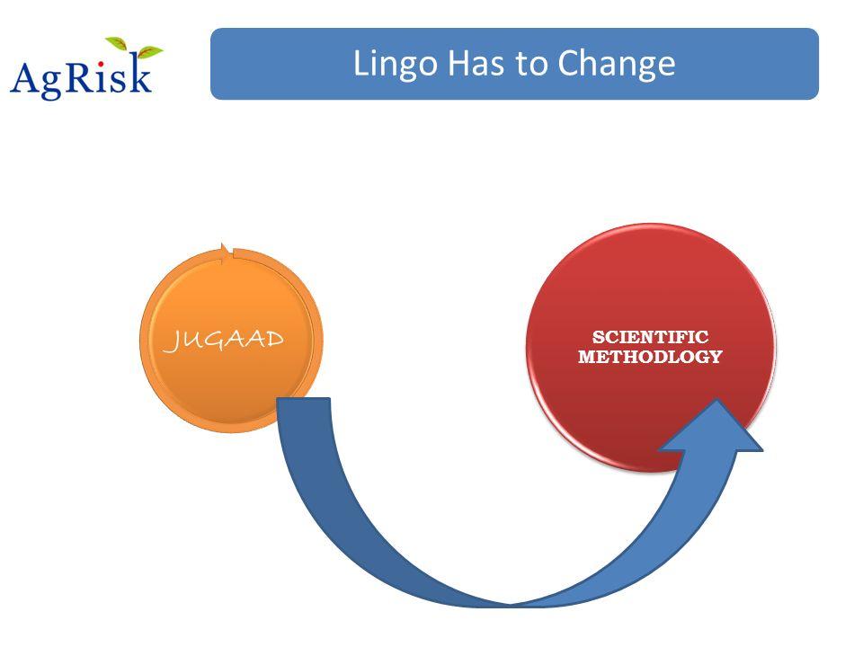Lingo Has to Change JUGAAD SCIENTIFIC METHODLOGY