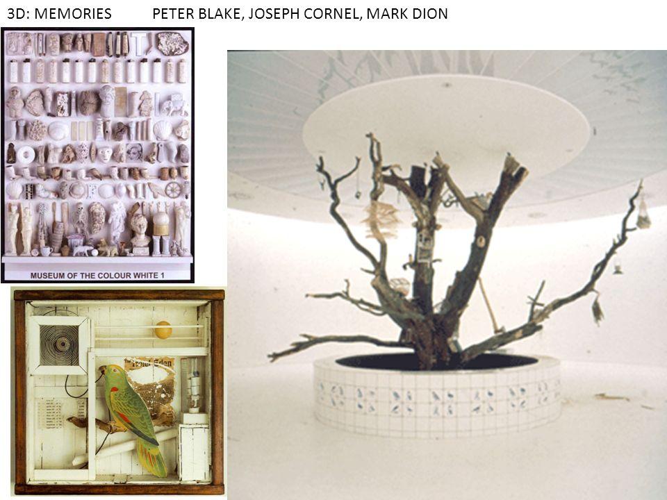 3D: MEMORIES PETER BLAKE, JOSEPH CORNEL, MARK DION