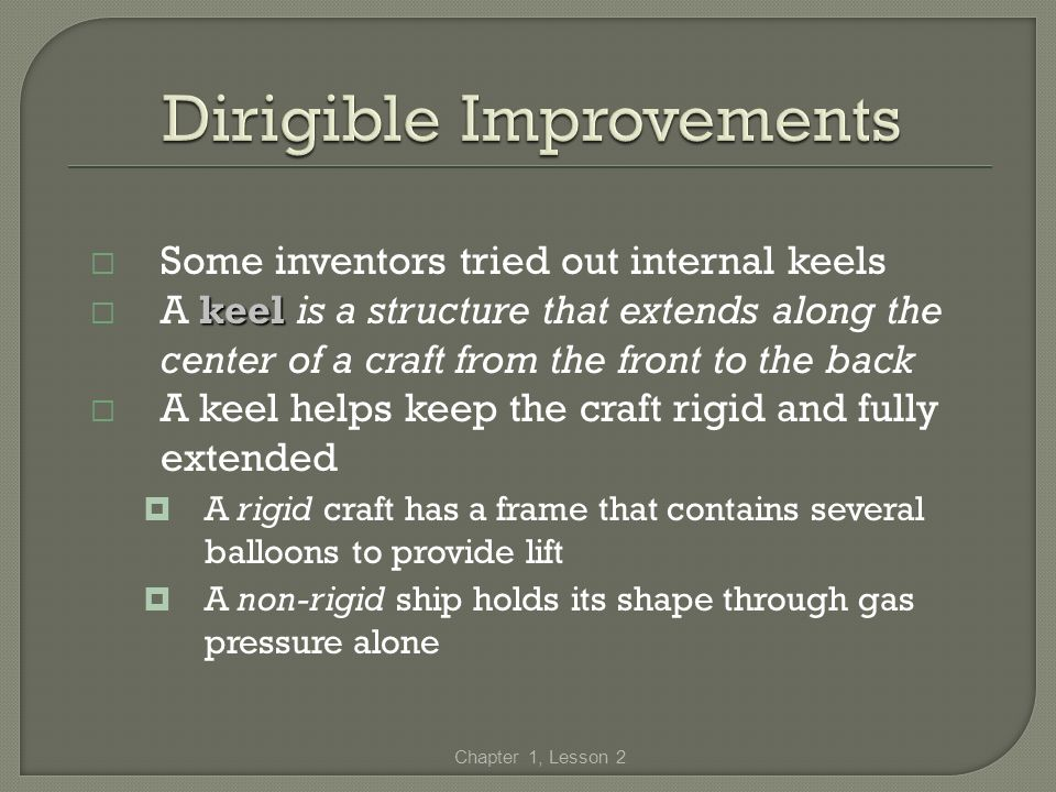 Some inventors tried out internal keels keel A keel is a structure that extends along the center of a craft from the front to the back A keel helps ke