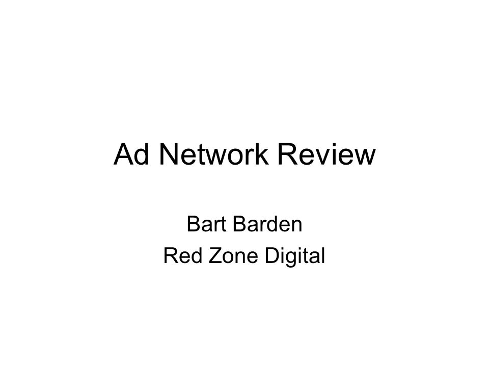 Ad Network Review Bart Barden Red Zone Digital