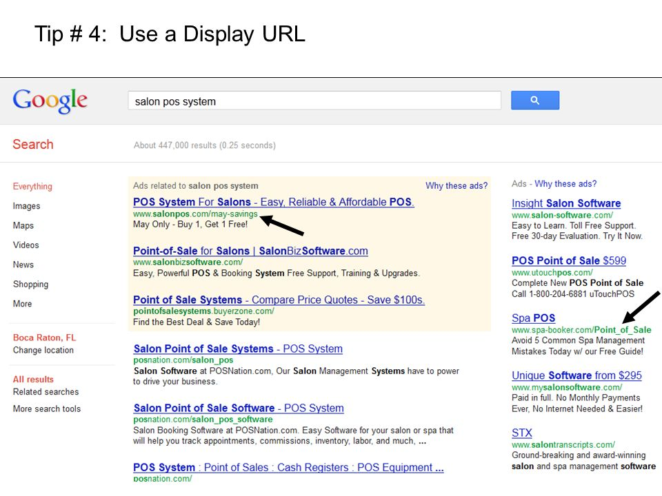 Tip # 4: Use a Display URL