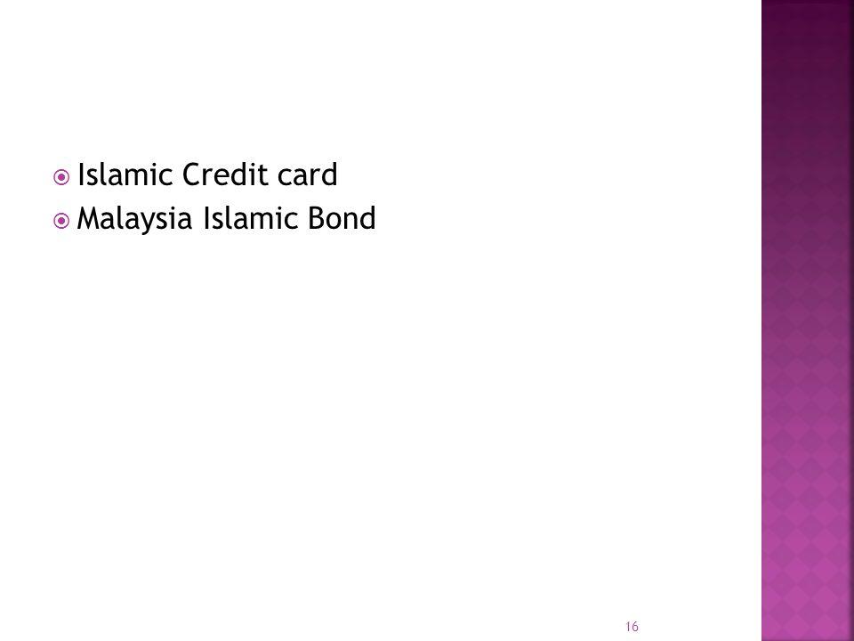 Islamic Credit card Malaysia Islamic Bond 16