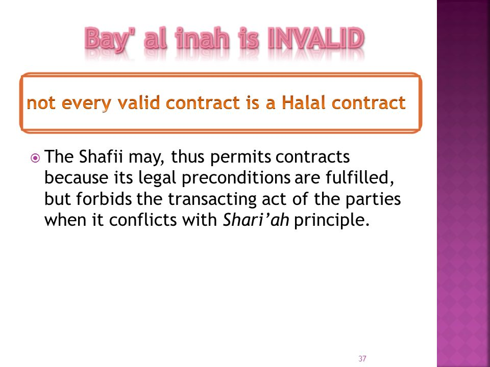 The Shafii may, thus permits contracts because its legal preconditions are fulfilled, but forbids the transacting act of the parties when it conflicts