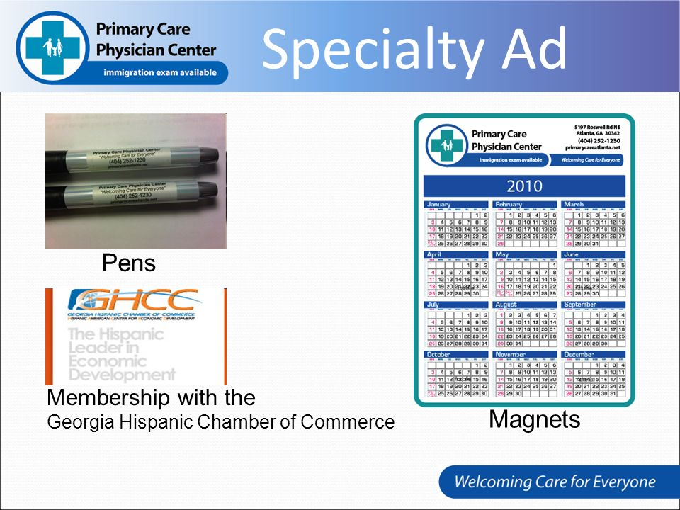 Pens Membership with the Georgia Hispanic Chamber of Commerce Magnets Specialty Ad