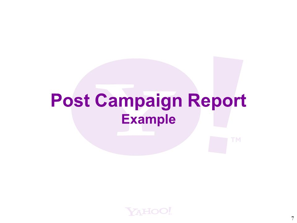 7 Post Campaign Report Example