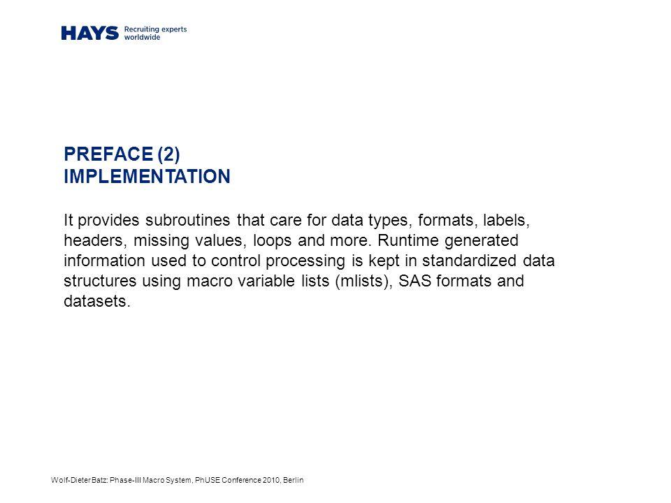 Wolf-Dieter Batz: Phase-III Macro System, PhUSE Conference 2010, Berlin %tab_conv() – dataflow %tab_conv() Deliver univariate.