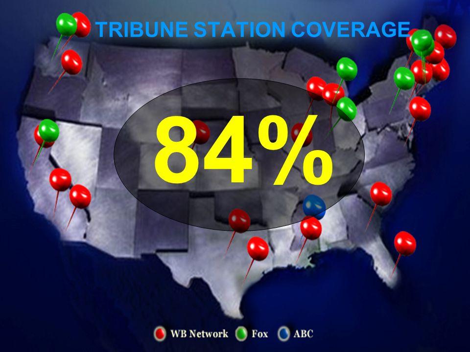 84% TRIBUNE STATION COVERAGE