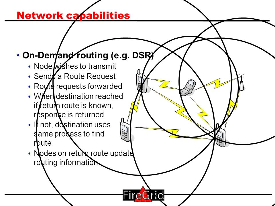 9 Network capabilities On-Demand routing (e.g.