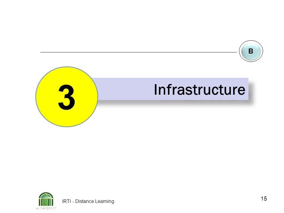 IRTI - Distance Learning 15 B B Infrastructure 3
