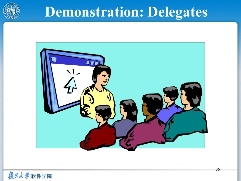 39 Demonstration: Delegates