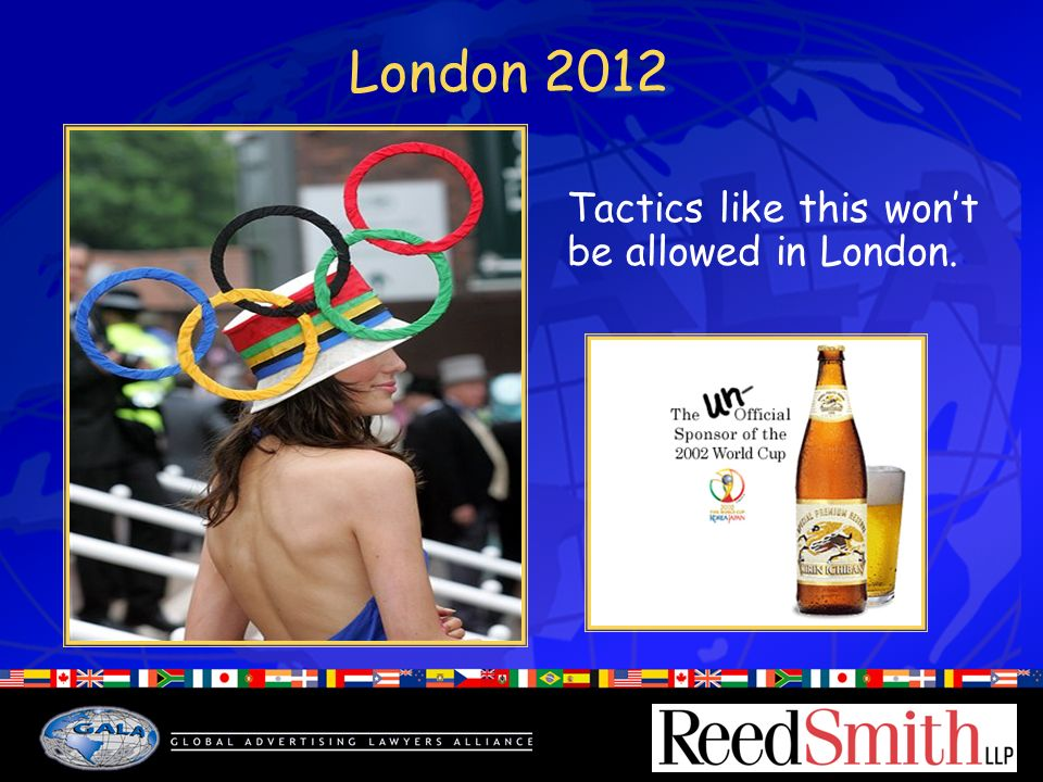 London 2012 Tactics like this wont be allowed in London.