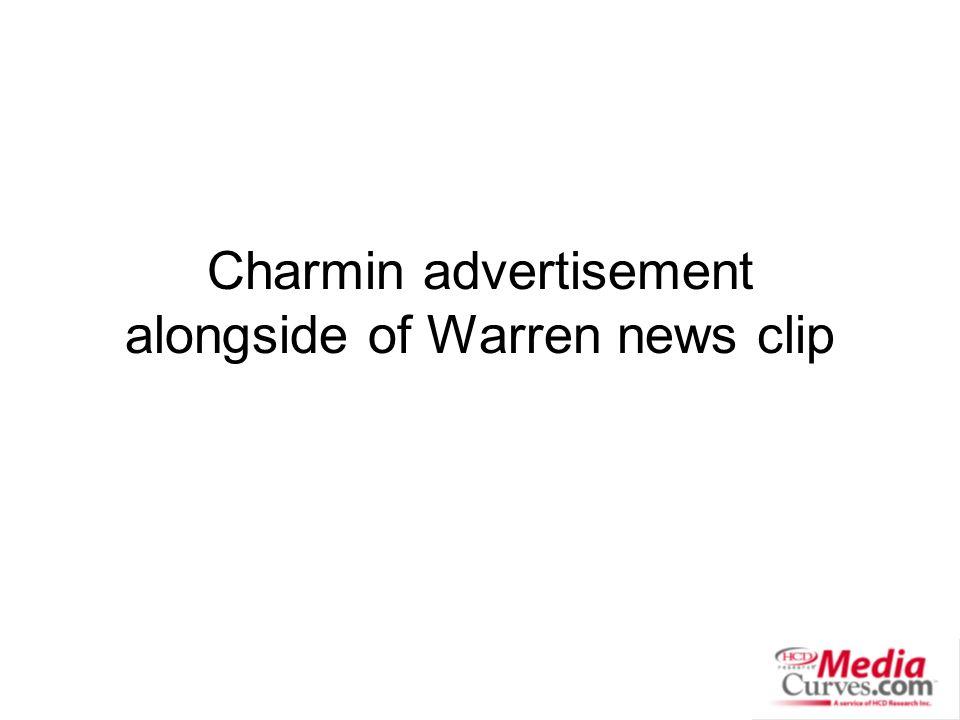 Charmin advertisement alongside of Warren news clip