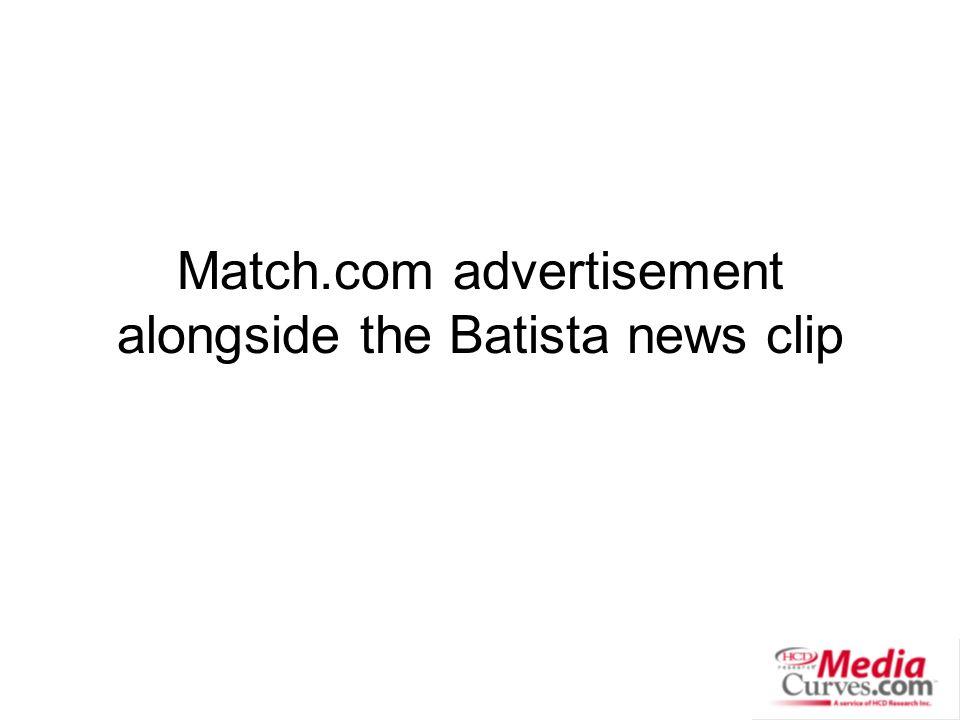 Match.com advertisement alongside the Batista news clip