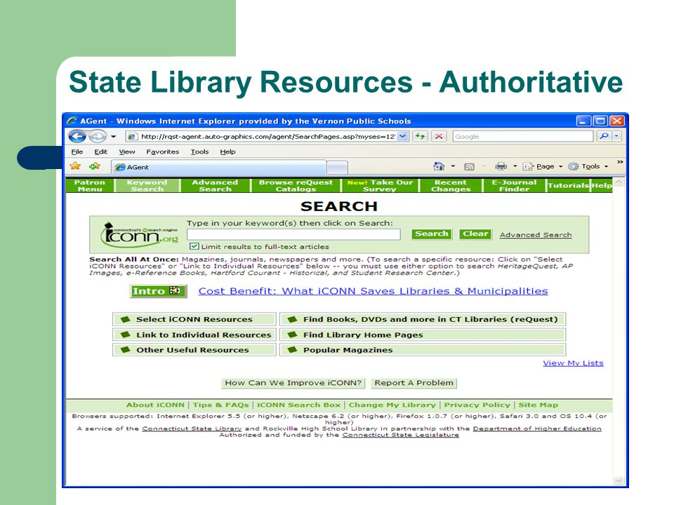State Library Resources - Authoritative