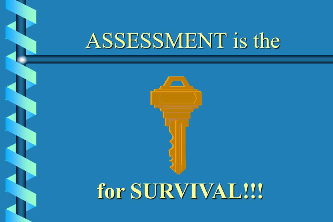 ASSESSMENT is the for SURVIVAL!!!