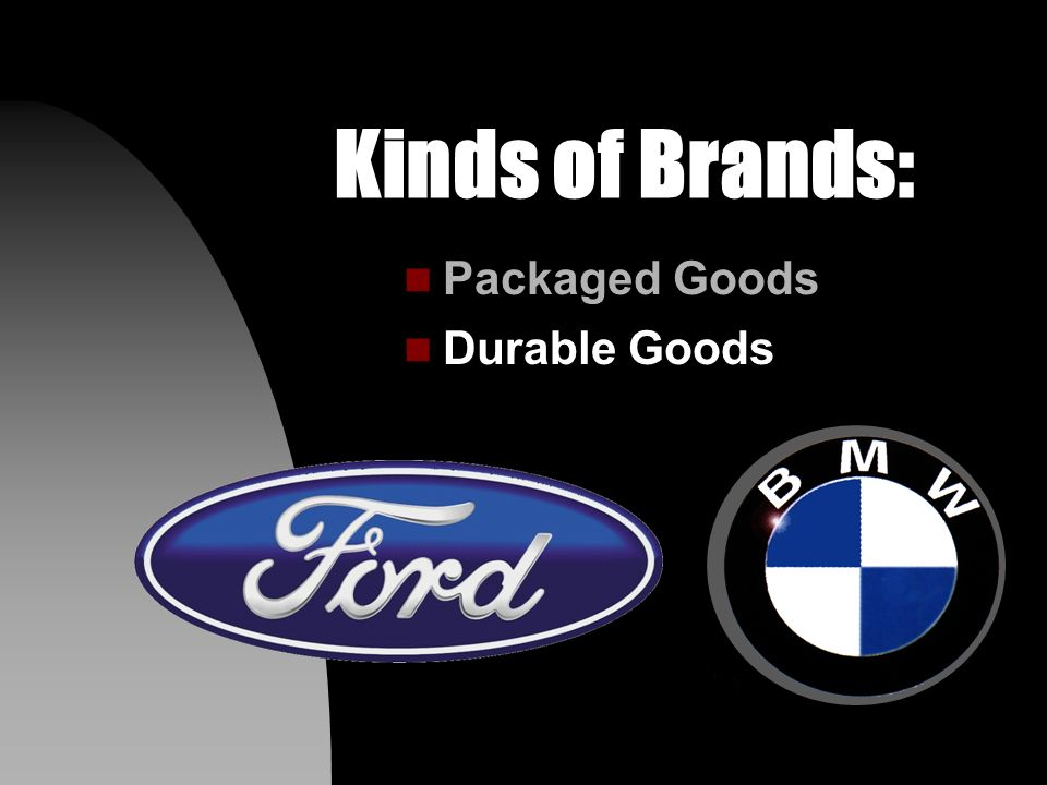 Kinds of Brands: n Packaged Goods