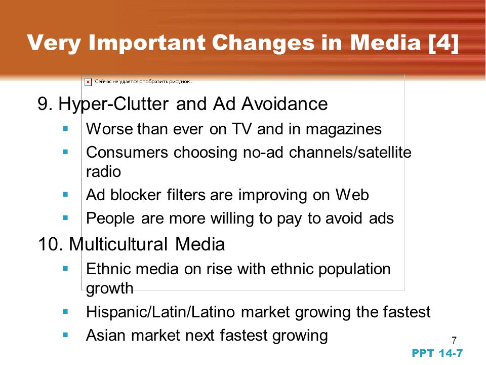7 PPT 14-7 Very Important Changes in Media [4] 9.