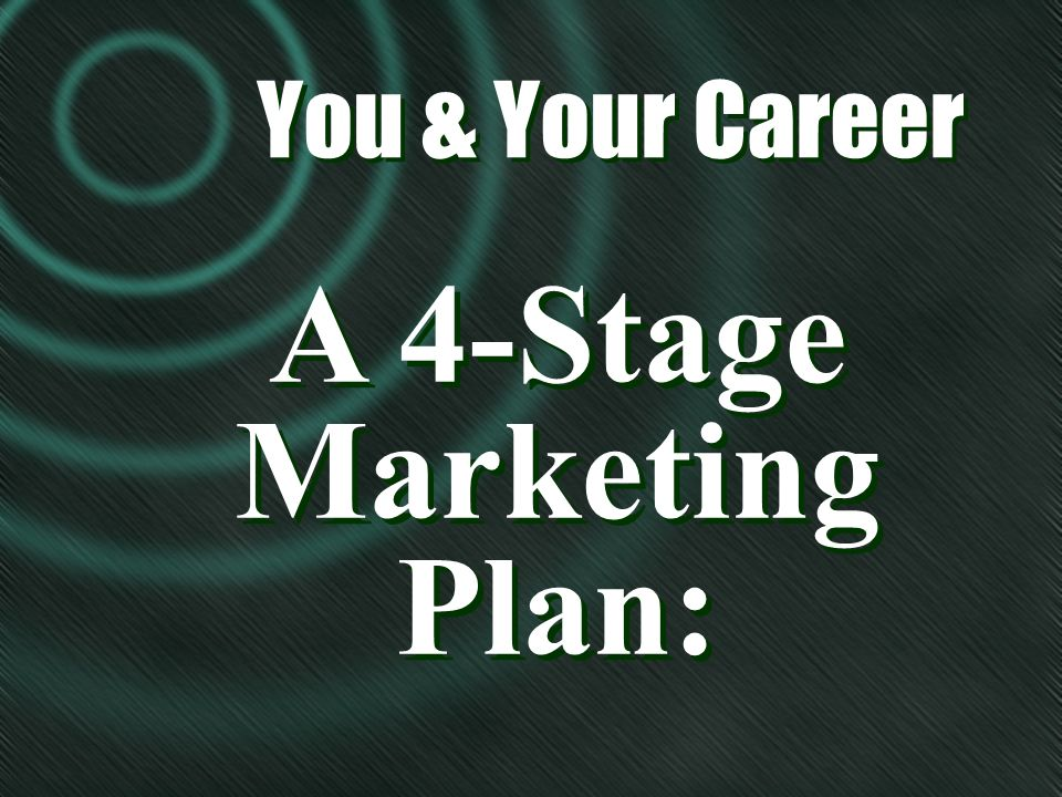 A 4-Stage Marketing Plan: