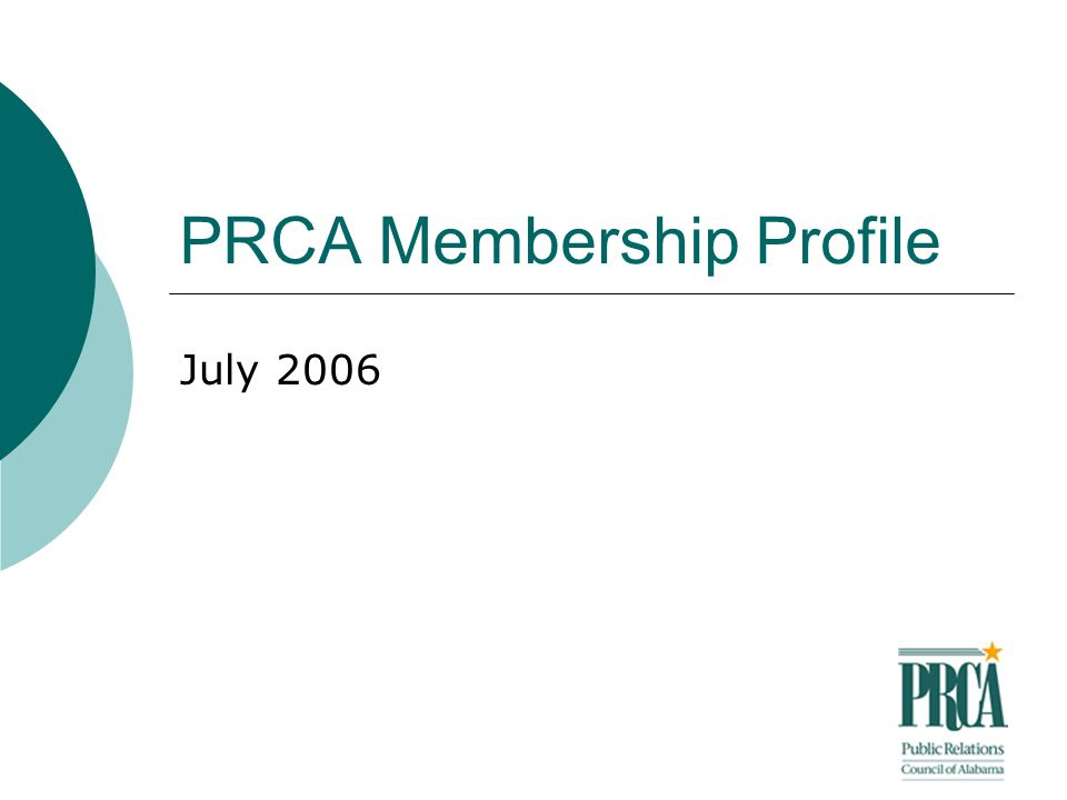 PRCA Membership Profile July 2006
