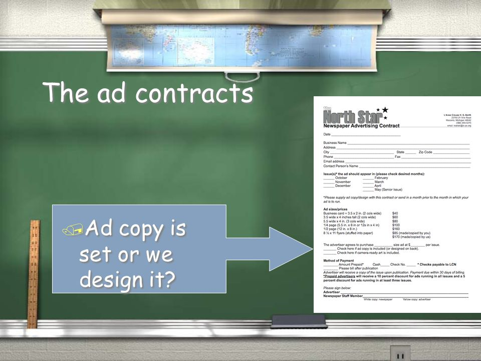 The ad contracts / Choose which issues & size (North Star) / Choose which issues & size (North Star)