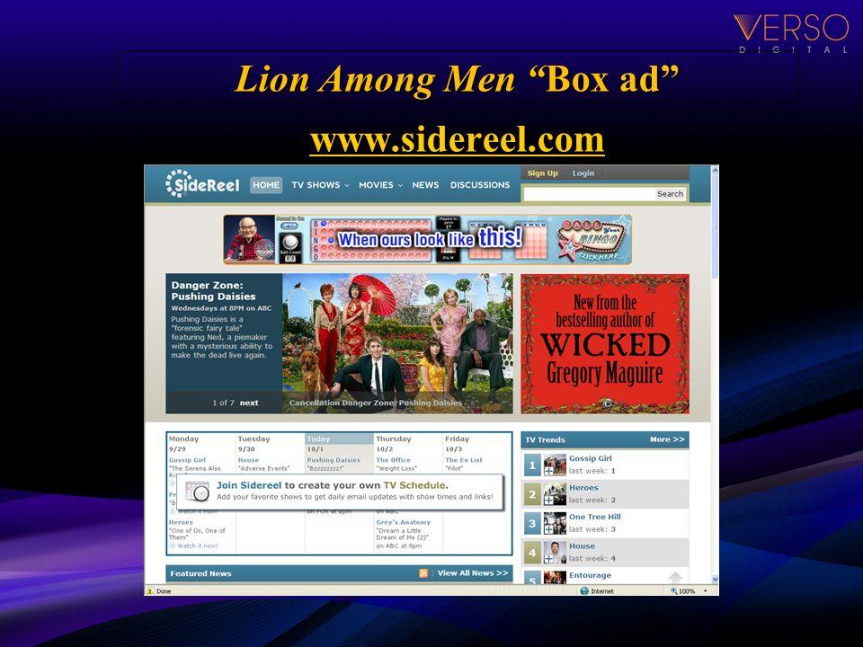 Lion Among Men Box ad www.sidereel.com www.sidereel.com