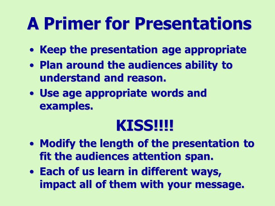 A Primer on Presentations
