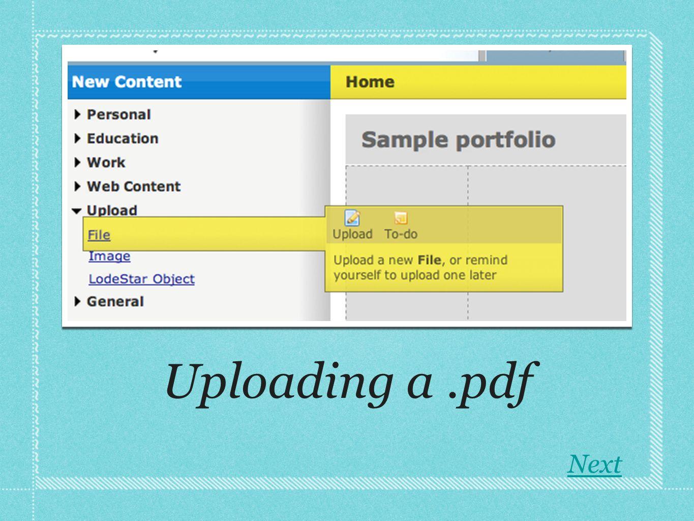 Uploading a.pdf Next