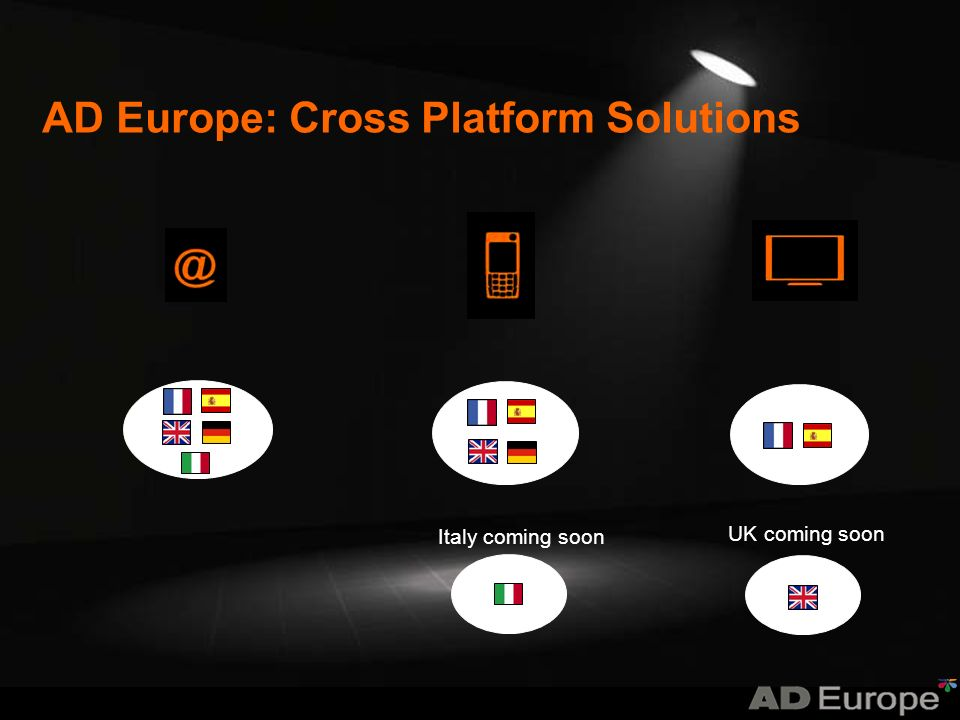 Italy coming soon UK coming soon AD Europe: Cross Platform Solutions