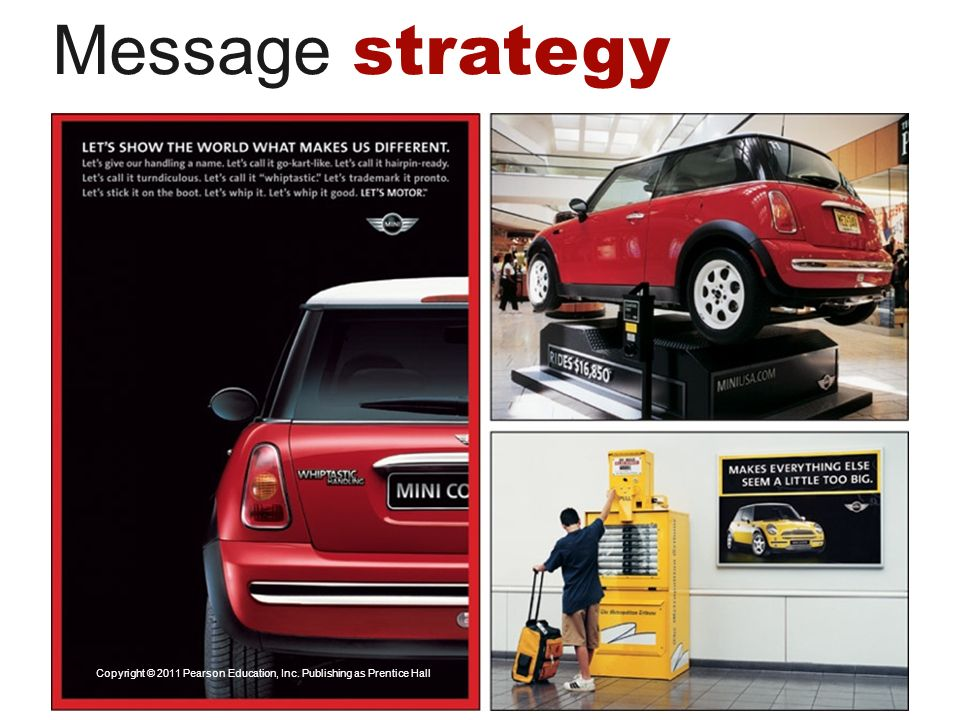 Message strategy Copyright © 2011 Pearson Education, Inc. Publishing as Prentice Hall