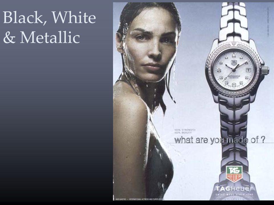 Black, White & Metallic