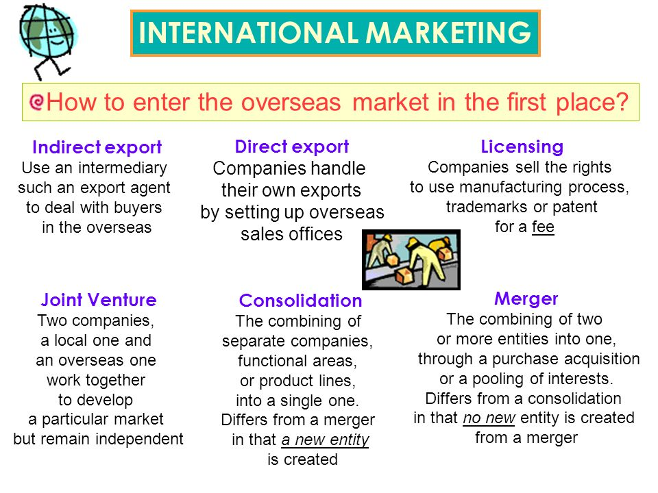 How to enter the overseas market in the first place.